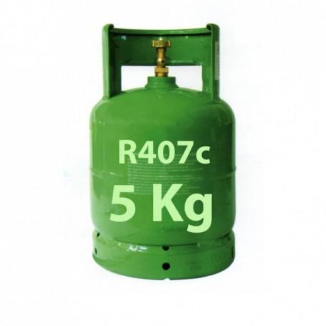 5 Kg R407c REFRIGERANT GAS REFILLABLE CYLINDER
