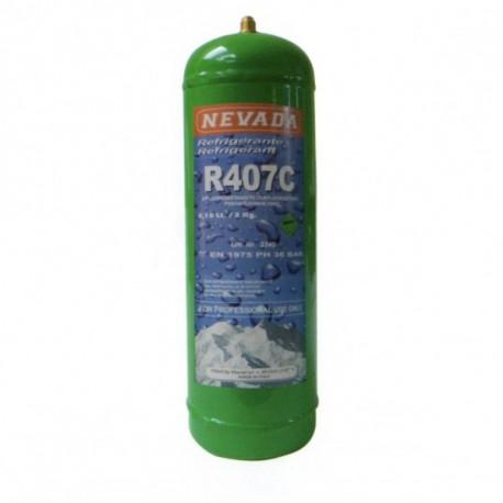 2 Kg GAS REFRIGERANTE R407c BOTELLA RELLENABLE