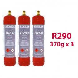 GAS R290 (propano) 3 x 370g botellas