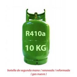 10 Kg GAS REFRIGERANTE R410a BOTELLA RELLENABLE